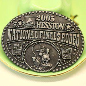 2005 Hesston Belt Buckle Mini NFR Calf Roper Horse